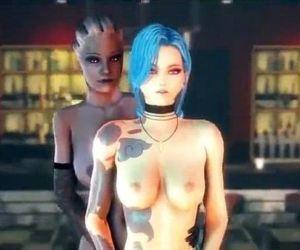 3D--Liara Jinx and Chloe Hot..