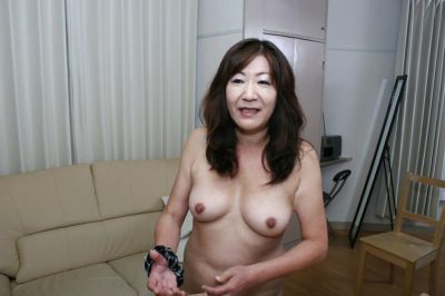 Naughty asian granny with perky tits and hairy gash taking shower