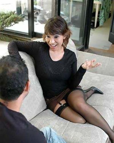 Asian mature Ava Devine fucking in stockings and gauzy underwear