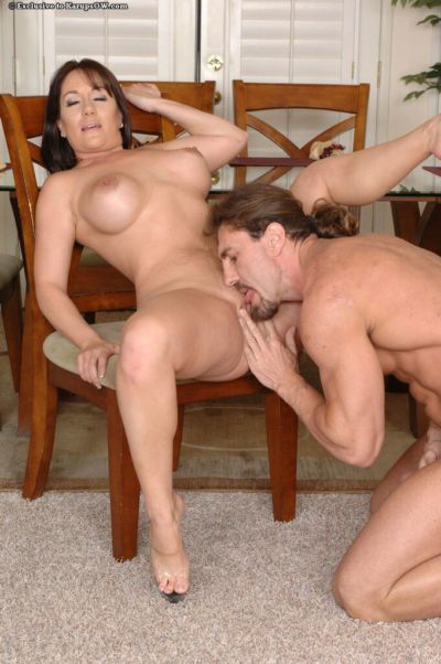 Hotsie totsie mature slut Sandy Beach is fucked by admirable dicks