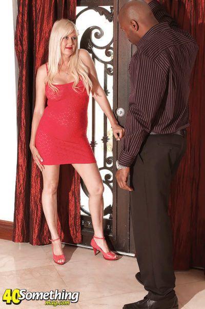 Mature seductress Marina Johnson gets a big black cock to play with
