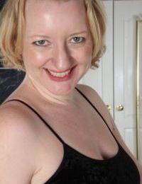 Mature Euro model Anya Volcov flaunting large natural breasts