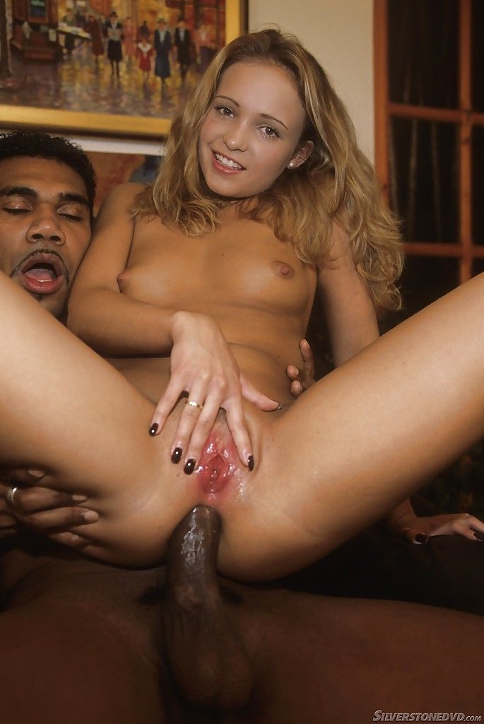 Petite blonde mom Tiffany Diamond blowing a huge black cock