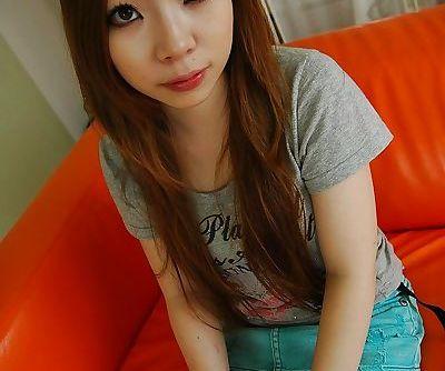 Asian teen Yuna Uchiyama..
