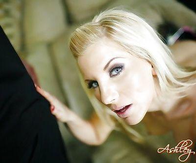 Blonde chick in high heels..