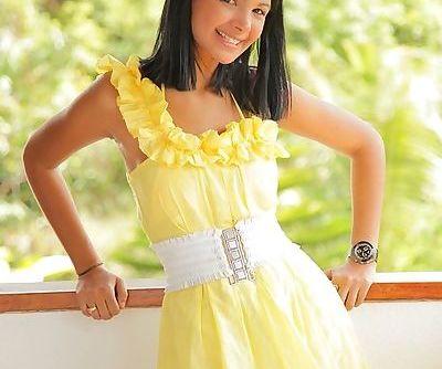 Luscious teen latina gets rid of..