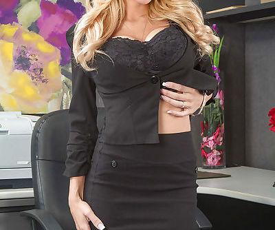 Office blonde Kayla Kayden..