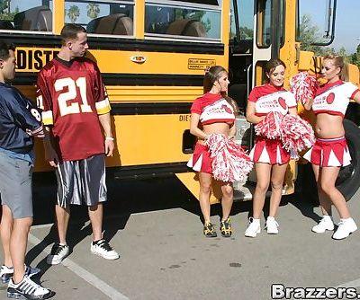 Three slutty cheerleaders..