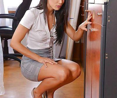Hot brunette..