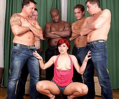 Redhead pornstar Lucy Bell has..
