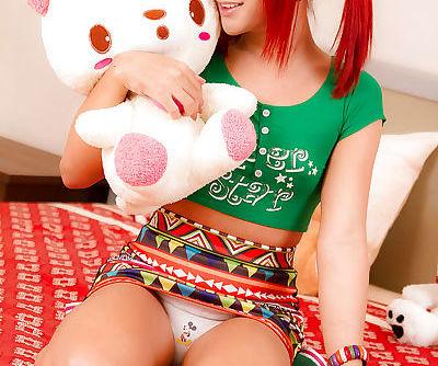 Redhead Asian Ladyboy Nam jacking..
