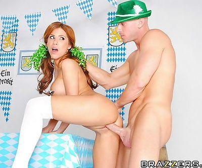 Voluptuous redhead teen takes a..