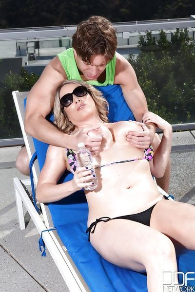 Big boobed cougar Maggie Green riding cock after tit fuck and missionary sex