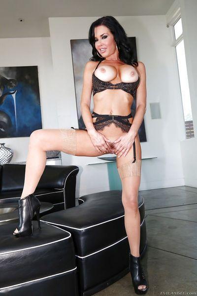 Hot Veronica Avluv & Adriana Chechik showing anal gape & toying with big dildo