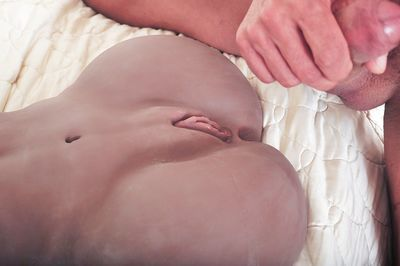 Brunette Olivia Wilder and male friend suck and fuck sex doll