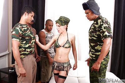 Interracial gangbang is a perfect entertainment for Olga Barz