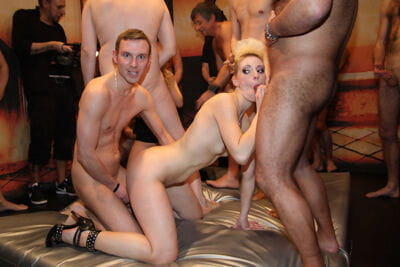 Blonde punk rocker Curly Ann is all in for a fantasy fufilling gangbang