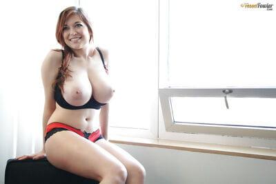 Big-tit pornstar Tessa Fowler demonstrates her awesome boobies - part 2