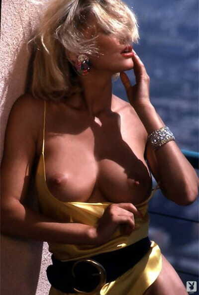 Hot blonde model Peggy McIntaggart strikes sexy poses for Playboy