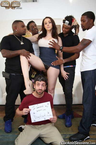 Sexy wifey Chanel Preston got gangbanged in hot interracial cuckold session