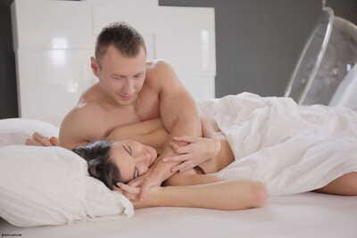 Sleeping beauty rides on top of her lovers cock after he wakes her up