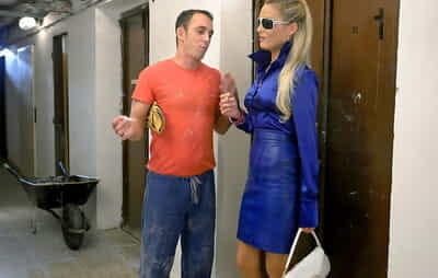 Hot MILF Laura Crystal is into hardcore fully clothed action