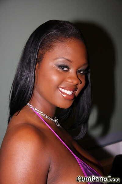 Black girl Brown Sugar takes jizz loads on her pretty face from white men