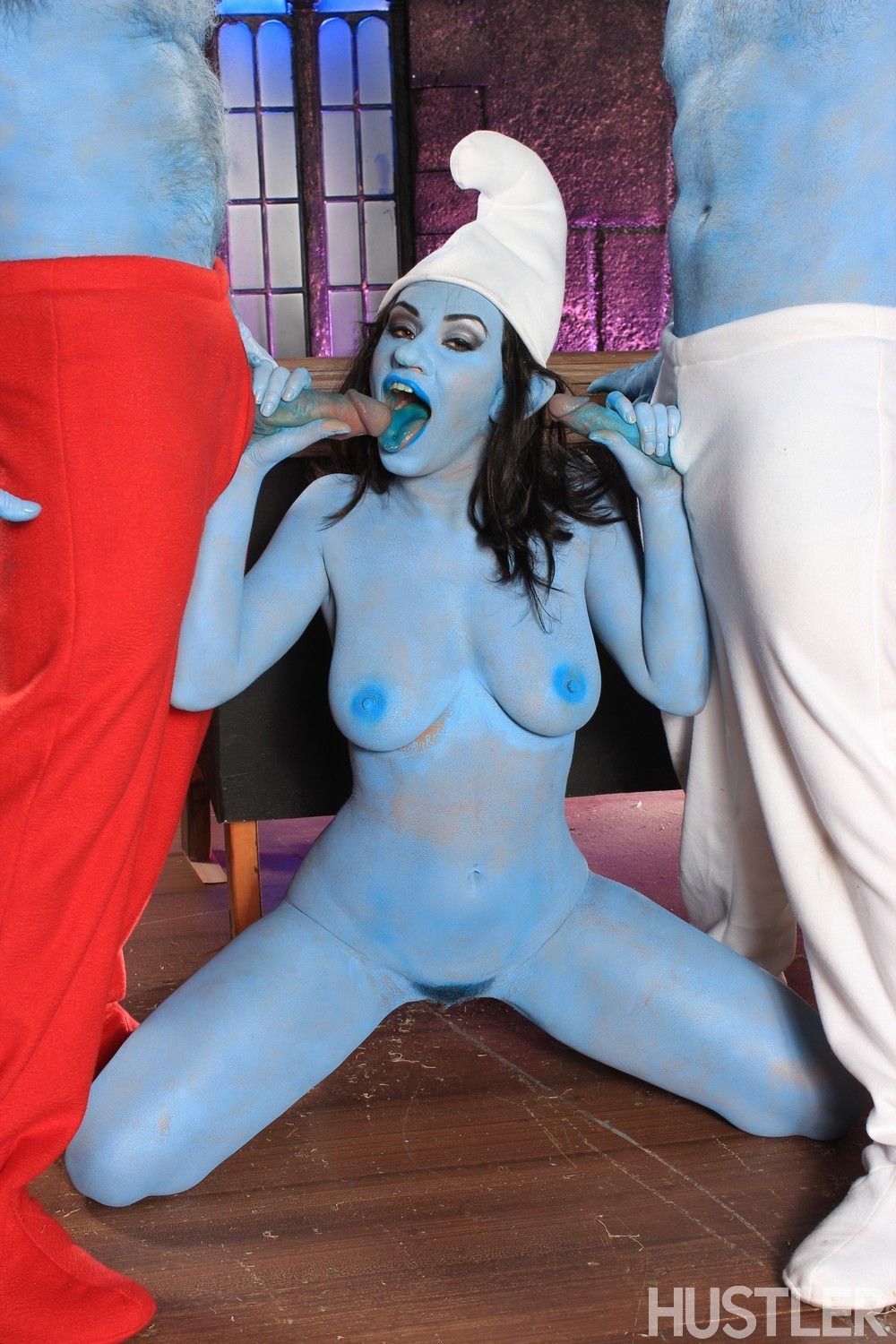 Charley chase jay crew and jeremy conway in this aint the smurfs xxx