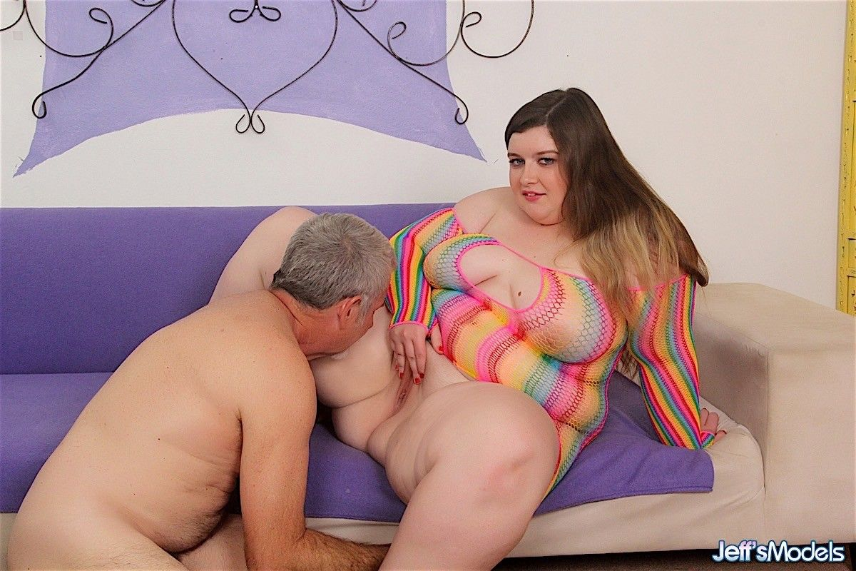 Sexy and pretty plumper blows a dick and gets pounded in many po