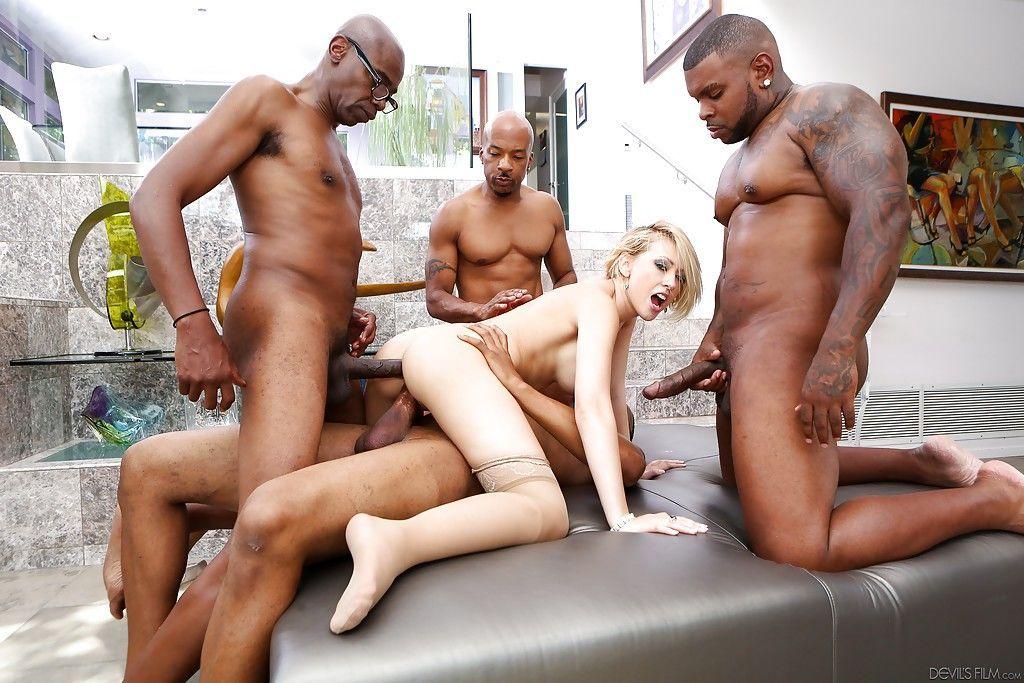 Beauty blonde Kagney Lynn Karter is fucking in interracial scene