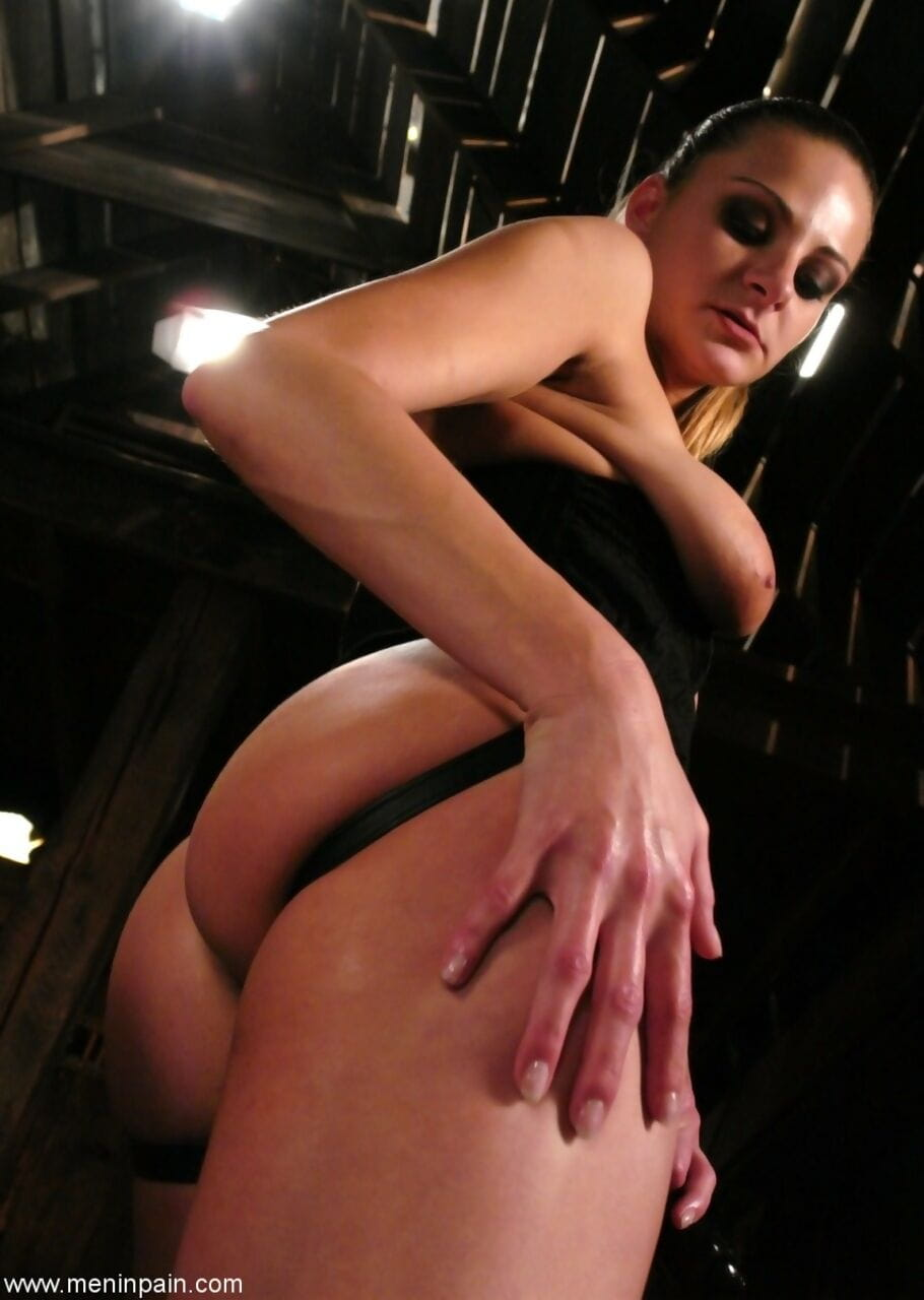 White female Nikki Nievez bends a man over and butt fucks him with a strapon