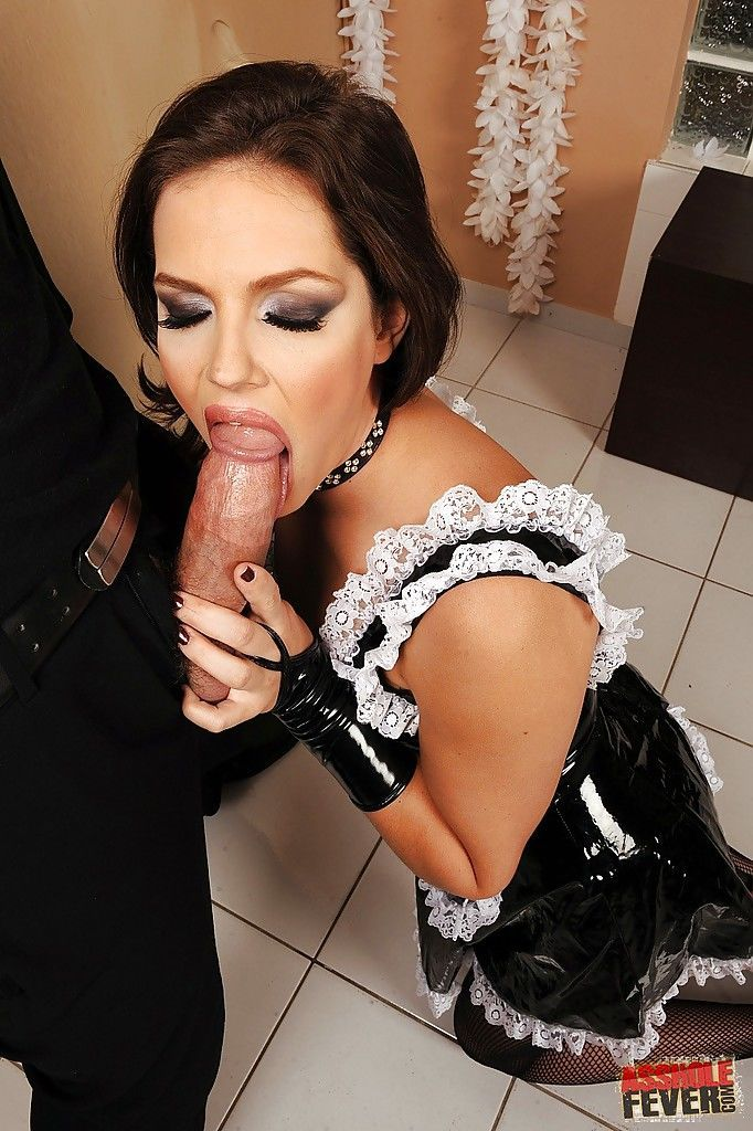 Dirty Bobbi Starr in the uniform has her hairy asshole fucked