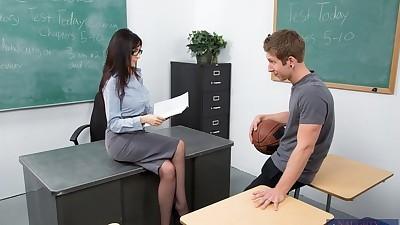 Lecherous teacher in glasses..