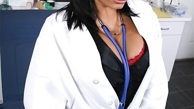 Sexy doctor with big tits Ricki..
