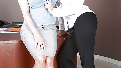 Lesbian sex in office with milf..
