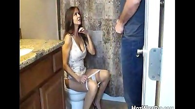 Mommy pissed after she jerk his..