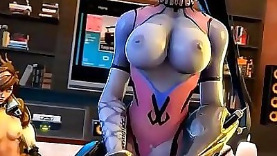 Overwatch Cartoon old man fucking..