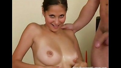 Natural Tits Czech MILF Rough Fuck
