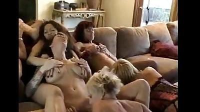 lesbian MILF orgy