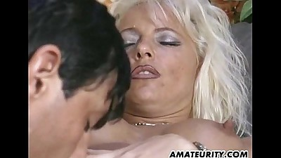 Busty amateur Milf sucking and..