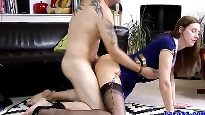 British milf cockriding while in..