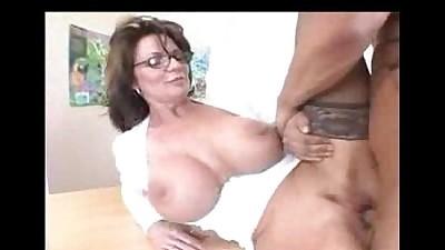 Busty Milf Teacher in Stockings..