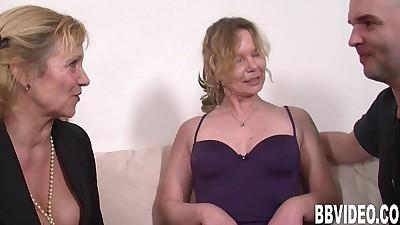 Slutty german milfs sharing cockHD