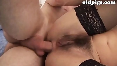 A hot and dirty mum spies her son..