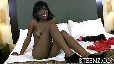Ebony teenie wants for wild lechery