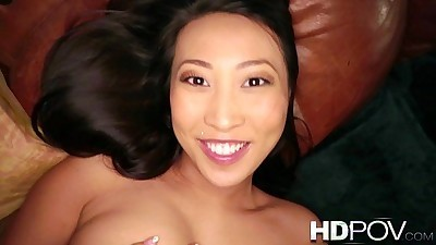 HD POV French Asian girl with Big..