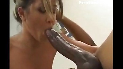 tiny girl gagging and fucking a..