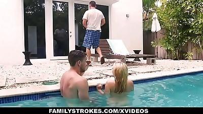 FamilyStrokesCute Teen Blonde..