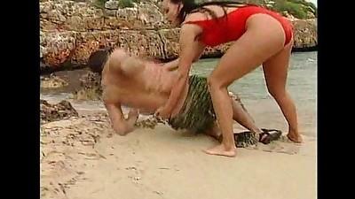 German lifeguard sucking and..