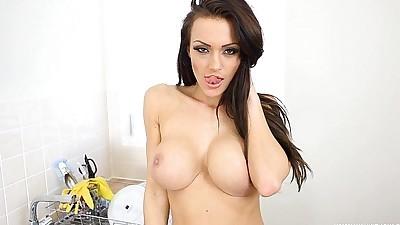 Busty Brunette JOI